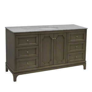 Starboard 60-inch Single Vanity (Carrara/Weathered Gray)