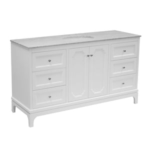 Starboard 60-inch Single Vanity (Carrara/White)