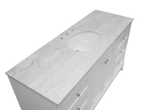 Starboard 60-inch Single Vanity (Carrara Marble)