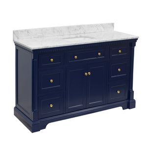 Sydney 60-inch Single (Carrara/Royal Blue)