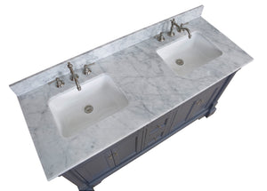 Sydney 60-inch Double (Carrara/Charcoal Gray)