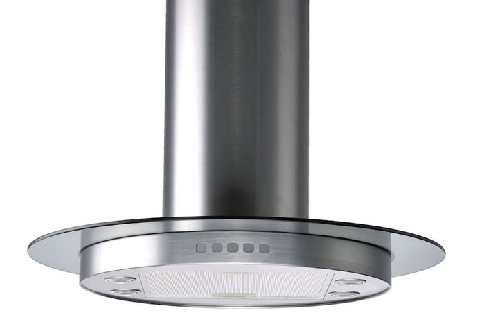 Circular Stainless Steel Island Hood with Glass (Model HRG90-LED)
