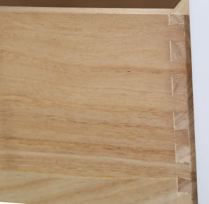 White Drawer Dovetail Joints