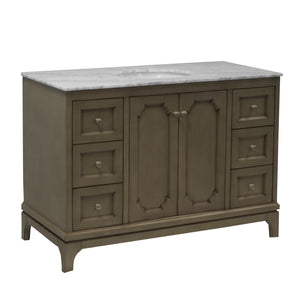 Starboard 48-inch Vanity (Carrara/Weathered Gray)