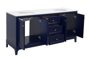 Starboard 72-inch Double Vanity with Quartz Top