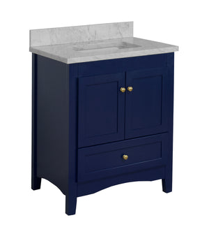 Abbey 30-inch Vanity with Carrara Marble Top