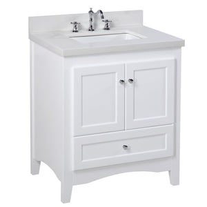 Abbey 30-inch Vanity with Quartz Top