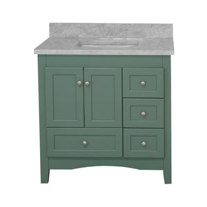 Abbey 36-inch Vanity with Carrara Marble Top