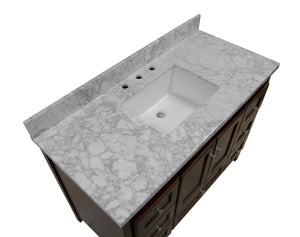 Abbey 48-inch Vanity with Carrara Marble Top