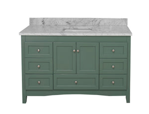 Abbey 60-inch Single Sink Sage Green Bathroom Vanity Front
