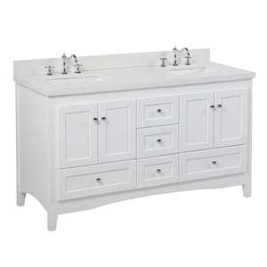 Abbey 60-inch Double Vanity with Quartz Top