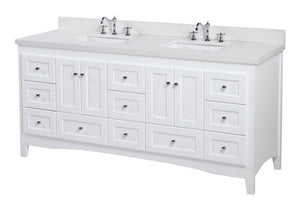 Abbey 72-inch Double Vanity with Quartz Top