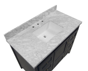 Abbey 42-inch Vanity with Carrara Marble Top