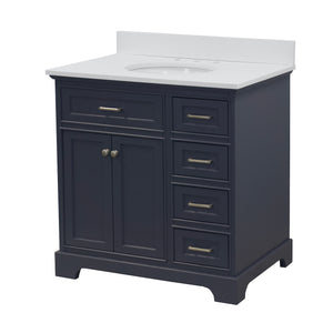 Aria 36-inch Vanity with Quartz Top