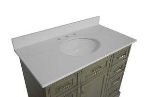 Aria 42-inch Vanity with Quartz Top