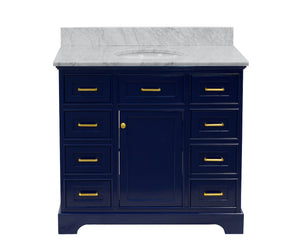 Aria 42-inch Vanity with Carrara Marble Top