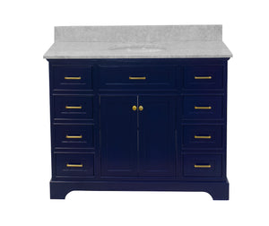 Aria 48-inch Vanity with Carrara Marble Top