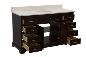 Aria 60-inch Single Vanity (Quartz)