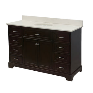 Aria 60-inch Single Vanity with Quartz Top