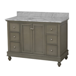 Bella 48-inch Vanity with Carrara Marble Top