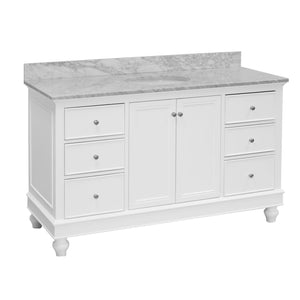 Bella 60-inch Single Vanity (Carrara Marble)