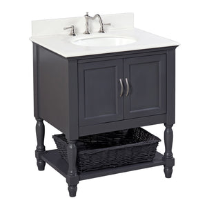 Beverly 30-inch Vanity with Quartz Top