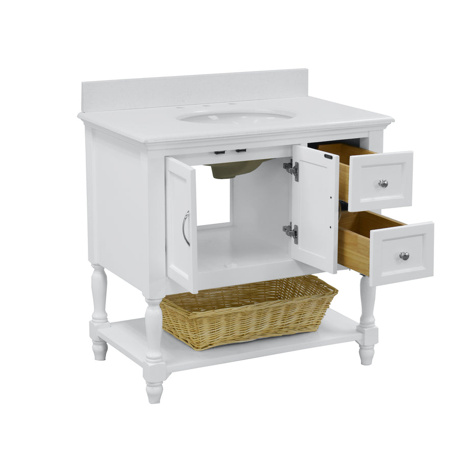 Beverly 36-inch Vanity with Quartz Top