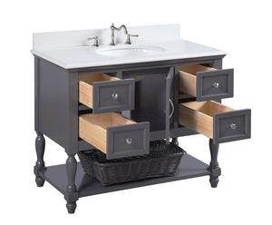 Beverly 42-inch Vanity with Quartz Top