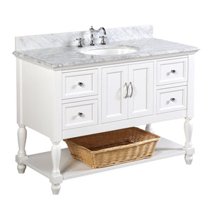 Beverly 48-inch Vanity with Carrara Marble Top