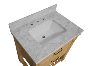 Birmingham 36-inch Vanity with Carrara Marble Top