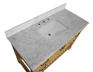 Birmingham 48-inch Vanity with Carrara Marble Top