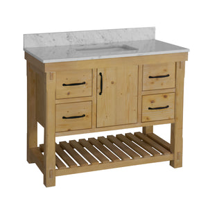 Birmingham 42-inch Vanity with Carrara Marble Top
