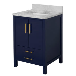 California 24-inch Vanity with Carrara Marble Top