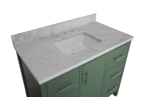 California 42-inch Vanity with Carrara Marble Top