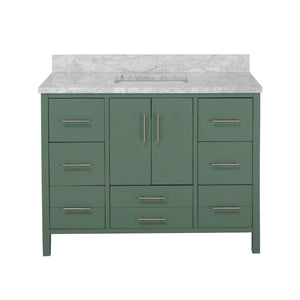 California 48-inch Vanity with Carrara Marble Top