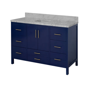 California 60-inch Single Vanity with Carrara Marble Top