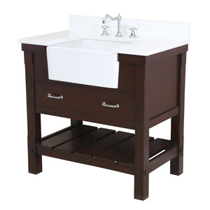 Charlotte 36-inch Farmhouse Vanity (Quartz)