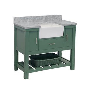 charlotte 42 sage green bathroom vanity carrara marble