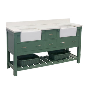 charlotte 72 sage green bathroom vanity quartz