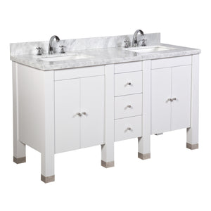 Riley 60-inch Double (Carrara/White)
