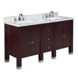 Riley 60-inch Double (Carrara/Chocolate)