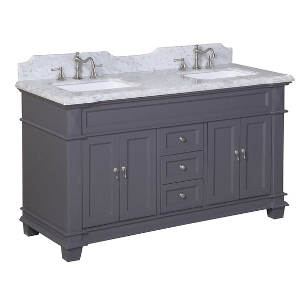 Elizabeth 60-inch Double (Carrara/Charcoal Gray)