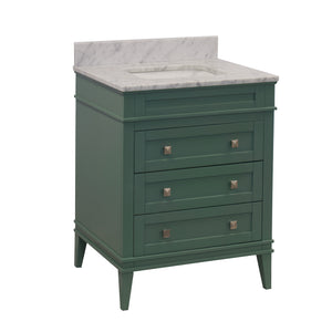 eleanor 30 sage green bathroom vanity carrara