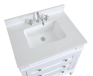 Eleanor 30-inch Vanity with Quartz Top