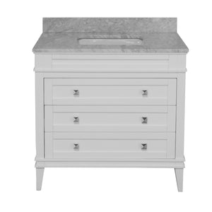 Eleanor 36-inch Vanity with Carrara Marble Top