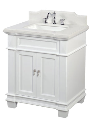 Elizabeth 30-inch Vanity with Quartz Top