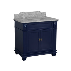 Elizabeth 36-inch Vanity with Carrara Marble Top