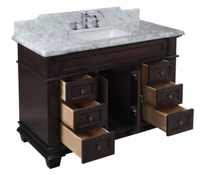 Elizabeth 48-inch Vanity with Carrara Marble Top