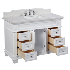 Elizabeth 48-inch Vanity with Quartz Top