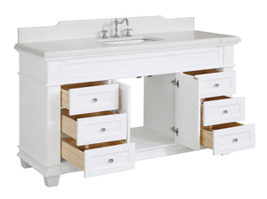 Elizabeth 60-inch Single Vanity with Quartz Top